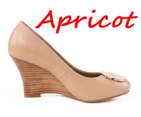 Wholesale Ladies Dress Wedges - Fashion Full Season Office Lady 8 CM Wedge High Heels Wedgies Women Leather Pumps Shoes EU Sz 35-41