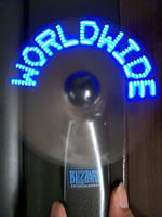 ingrosso luce lampeggiante blu a batteria-Messaggio a batteria Lampeggiante Led Mini Fan Led Fan, luce accesa regalo mini ventilatore per i commerci all'ingrosso (blu) ..