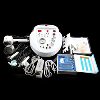 Wholesale ultrasound facial machine for home resale online - 5 in1 DIAMOND MICRODERMABRASION DERMABRASION PEEL peeling machine Photon Skin Scrubber ultrasound facial beauty machine for home use