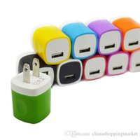 Süßigkeit Bunte EU US Stecker USB Power Wand Home Travel Charger Adapter Für Samsung S7 S6 Rand plus Martphone