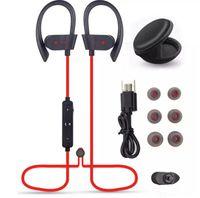 Wholesale Waterproof Mp3 Bluetooth Headphones - So Hot 56S Wireless Bluetooth Earphones Waterproof IPX5 Headphone Sport Running Headset Stereo Bass Earbuds Handsfree With Mic