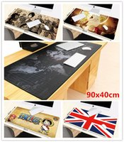 Atacado- 90x40cm Respirável Absorvente World map cartoon Laptop impermeável mouse pad Armazenamento mesa pad Modern Table Felt Office Desk Mat