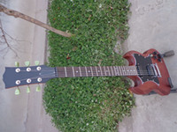 Wholesale Sg Guitar Brown - Wholesale High Quality Angus Young SG Guitar Double Cut Way SG 400 brown Electric Guitar