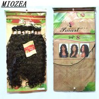 "Wholesale Mixed Synthetic Hair Weave - Mongolian Kinky Curly Synthetic weave Hair Bundle 8pcs 20""-24""inches short curly hair extensions afro 4 Color"