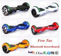 Wholesale Self Balance - US UK Stock LED Scooter Bluetooth Hoverboard Electric Scooter with LED Light Smart Balance Self Balancing Skateboard Fast No Tax Ship