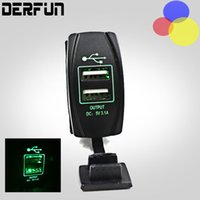 Car-styling Universal 2-Port Power USB Carregador 12-24V 3.1A Carregador de carro Mini Car Cigarette Lighter Socket Charger
