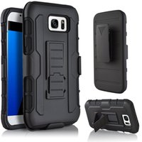 Wholesale Case S4mini - Luxury Hybrid Kickstand Case For Samsung G550 J710 S7 Active G891 A510 A710 S5MINI S4MINI S7 Hard 3 in 1 Impact Rugged Armor Phone Covers