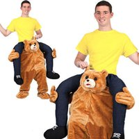 Wholesale Teddy Bears Dresses - Teddy Bear Stuffed Ride On Me Stag Mascot Carry Piggy Back Fancy Dress Costume