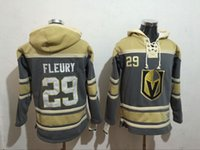 Wholesale Hi Ice - Men's Ice hockey jerseys Fleece Hoodie Vegas Golden Knights #29 Fleury Free shipping The Hi-Q traditional embroidery