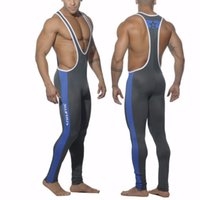 Wholesale Swimsuit Body Short - Best Leotards&Unitards Swimsuit Mens One piece Uniform Professional Swimwear Full body bodywear for Man