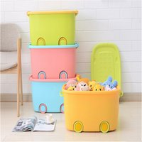 Wonderful Organizador Multifunction Large 1pcs PP Childlike Pulley Bin Storage Box  For Toys Snacks Sundries Holder Office Cabinet With Sealed Cover