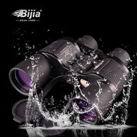 Wholesale Telescopio Binocular - BIJIA 10-30x50 Portable Outdoor Binocular Telescopio BAK4 Zoom Magnification HD Telescope FMC Optics Hunting Sports Vision