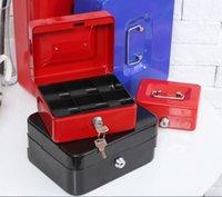 tirelire noire achat en gros de-Mode Hot Safe Petit Coin Tirelire Métal Économiser Tirelire Argent Cash Noir Avec Serrures Tirelire Banco Monedas