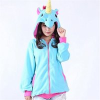 Atacado - Newly Unicorn Women Hoodies Fashipn Woman Animal Zipper Velvet Sweatshirt Anime Long Sleeve Casual Outwear Coats 40807