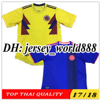 Soccer Men Short TOP QUALITY 2018 World Cup Colombia home yellow soccer  jersey 17 18 away 7de647e9c