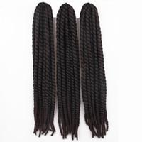 Wholesale ombre braiding hair for sale - 60cm Havana mambo twist crochet braid hair extensions afro kinky synthetic braiding hair jumbo crochet twist box braids hair