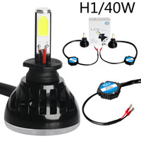 Wholesale hid xenon driving lighting kits resale online - Plug and play universial kit H1 K LED Front bulbs High Power DRL W LM Cob Automobile Headlight driving lamp replace xenon HID