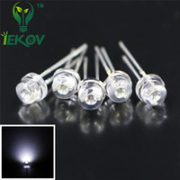 Wholesale White Led 5mm Straw Hat - High Quality 1000pcs bag 5mm super bright white light-emitting diode DIP LED straw hat astigmia Wholesale Retail