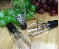 wein dekanter ausguss groihandel-White Red Wine Belüfter Pour Auslauf Flaschenverschluss Decanter Ausgießer Belüften