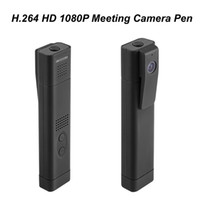 Wholesale Professional Spy Cameras - T190 Meeting Lecture Professional Wide Angle 180 Degree H.264 1080P Full HD Video Pen Mini DV Video Recorder Spy Pen Camera