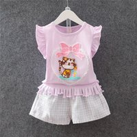 Wholesale Cute Style Babys Girls - Girls Sets +T-shirt +Short Pants 3Colour Baby Girl Set Child Suit With The Little Girls Cute Babys Children's Clothes Kids Clothes 2016 New