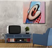 freie malerei nackte mädchen großhandel-Freies Verschiffen-handgemachte moderne Kunst-Ölgemälde auf Segeltuch Cuadros decoracion Wandkunst für Wohnzimmer Abstraktes nacktes Mädchenbild