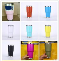 Wholesale Travel Mugs Wholesale China - 2017 new arrival pink mugs 30oz Stainless Steel 10 colors Cup Double Wall Travel Mug Tumbler Cup Cooler Double Wall Vacuum Insulated Cups