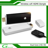wireless HDMI Dongle transmissor e receptor vara TV inteligente suporte 1080P Miracast Android / IOS / WIN8.1 dual core 2.4G + 5G