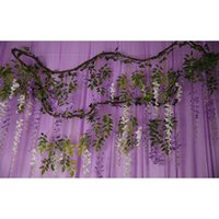 Garland Flowers Artificial Wisteria Withered Vine Wedding Decoration Out Door Wedding Ceremony Forest Wedding Home Deco