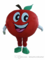 Wholesale Apple Costumes - SX0724 an adult apple mascot costume with big eyes and big mouth for adult to wear