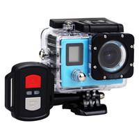 melhor câmera esportiva venda por atacado-Best selling ir estilo H22R 4 K Wifi Action Camera 2.0 Polegada 170D Lens Dual Screen Câmera Esportes Radicais À Prova D 'Água pro HD DVR Camera