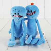 Wholesale Retail Plush Toys - 25cm 2 Styles Rick and Morty Happy&sad Plush Toy Soft Stuffed Doll Toy for kids gift toy free shipping retail