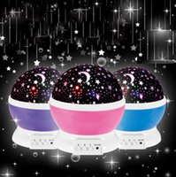 Night Light Projector Star Master Romantique Rotation Spin Lamp Enfants Enfants Baby Sleep Lighting Sky USB Lamp Led Projection