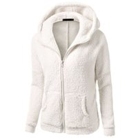 zip up winter parkas achat en gros de-Vente en gros- Femmes Warm Winter Épaisses Polaire Coat Zip Up Hooded Slim Parka Veste Overcoat Hoddies Hot Sale