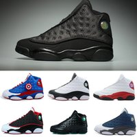 Wholesale Rubbers Get Blue - 2017 high quality air retro 13 XIII men Basketball shoes bred flint grey toe He Got Game hologram baro black cat US 8-13