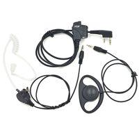ingrosso baofeng uv 5r mic-Auricolare a doppio uso Auricolare tubo acustico Mic per Kenwood Baofeng Radio portatile UV-5R BF-888S BF-UVB2 Plus GT-3 UV-B5 Accessori