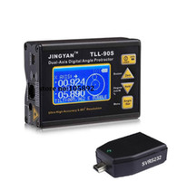 Wholesale 232 adapter for sale - Group buy TLL S Professional Dual axis LCD Mini Digital Protractor Inclinometer Laser Level Tools Angle Meter SVRS PC Adapter