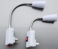 nuevo enchufe ce al por mayor-El nuevo adaptador de suministro de alimentación de CA para el enchufe US / AU de Arrive a las bombillas E27 Adaptador de zócalo Ajuste halógeno Luz de mesa flexible / con interruptor de apagado