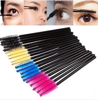 Wholesale Hot Pink Mascara - Hot sale 50 pcs One-Off Disposable Eyelash Brush Mascara Applicator Wand makeup Brushes eyes care make up styling tools