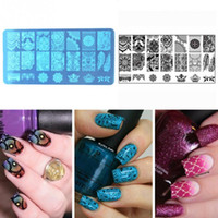 Wholesale Cool Stamps - New Nail Art Stamping Stamp Template Image Plates Cool stainless steel Lace floral Nail Stamp Plate Manicure Decoration Pedicure