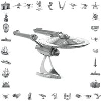 Wholesale Star Wars Aircraft - 3d metal laser cut assembly model 3d metallic nano puzzle toys star wars musical instrument 3d building puzzle Aircraft   45style