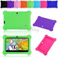 Wholesale Tablet Covers Inch Rubber - Cheap Anti-Dust Kids Child Soft Silicone Rubber Gel Case Cover For Q88 Q8 A33 7 Inch Android Tablet PC Drop resistance Kids Gifts