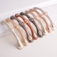 Wholesale Materials Handling Products - Zamak material china popular product ivory amber cooper bronze glod color kitchen cupboard wardrobe drawer dresser closet cabinet handles