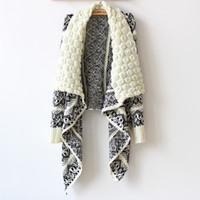 cardigan en tricot décontracté achat en gros de-2014092304 2014 Hiver Mode Femmes Pull Pullover Femmes Grand Pull À Tricoter Décontracté pour Femmes Trois Couleurs Pour Choisir Livraison Gratuite