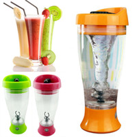 Wholesale Hand Warmers Retail - Color Electric Protein Shaker Blender Water Bottle Automatic Tornado Bottle 400ml bpa Free Detachable Smart Mixer Cup Retail Box