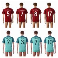 9b44dc5f7 Soccer Men Short 2016 Euro Cup Jerseys  7 RONALDO Home Red Soccer Jersey  Top Thai