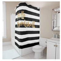 Wholesale Letters Shower Curtain - Customs 36 48 60 66 72 (W) x 72 (H) Inch Shower Curtain Letters Theme Black And White Waterproof Polyester Fabric DIY Shower Curtain