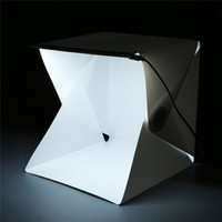 Wholesale Softbox Light Soft Box - Portable Mini Folding Studio Light box Portable Photography Studio Foldable Softbox with Black white Backgound Soft Lightbox