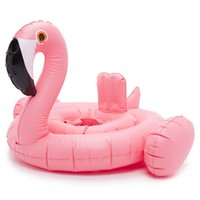 sports recreation - INS Popular Inflatable Children Kid White Swan Pink Flamingo Swim Ring Swimming Lift Buoy Summer Water Sea Beach Sport Cute Lovely Animal