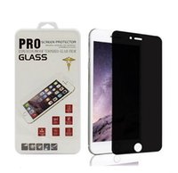 Wholesale Stickers S4 Glass - for iphone 7 plus privacy tempered glass screen protector anti spy film sticker tempered glass for iphone 6 6s 7 plus Samsung s7 s6 s5 s4